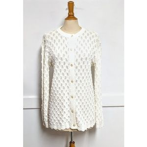 Vintage 1960's Cardigan in White size Extra Large